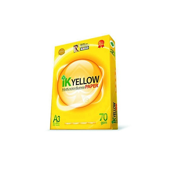 Giấy IK Yellow 70gsm –A4 (indo)