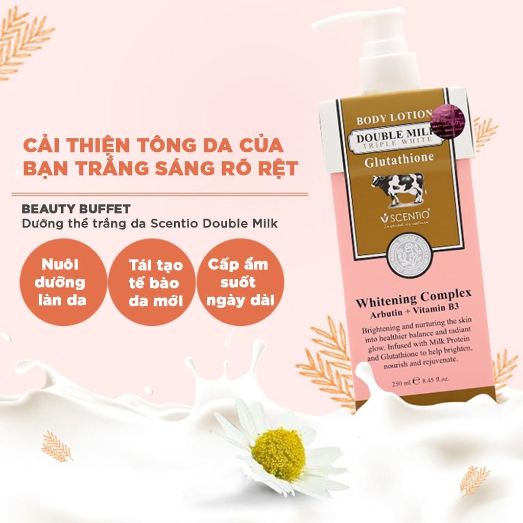 Dưỡng thể dưỡng trắng và chống nắng toàn thân Scentio Milk Plus  SPF25 250ml