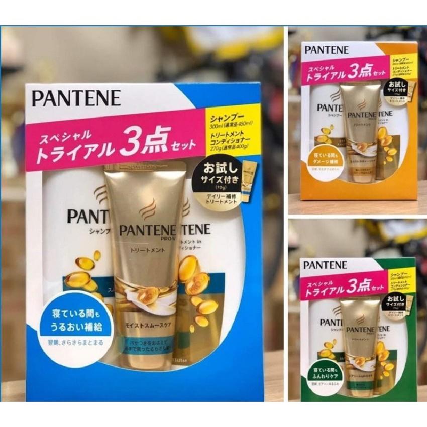 Set 3 bộ dầu gội PANTENE nội địa Nhật Bản