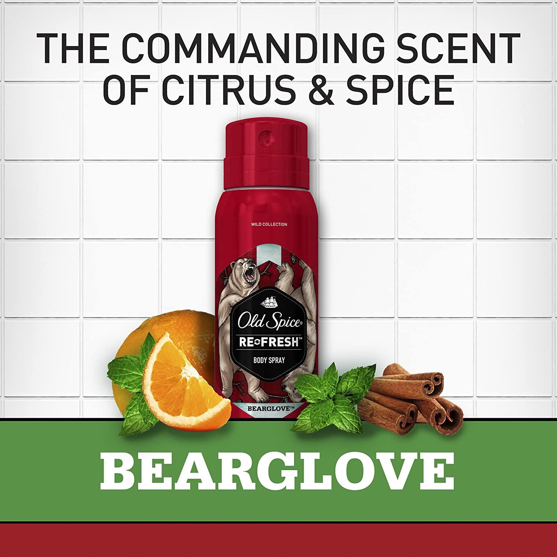 Xịt khử mùi Old Spice Bearglove Spray - Hàng Mỹ