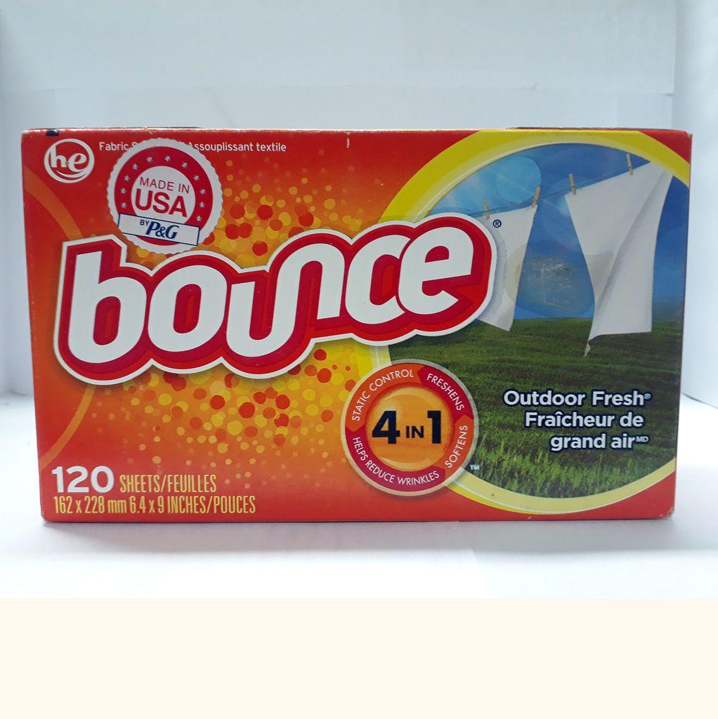 Giấy xả làm mềm vải Bounce Outdoor Fresh (120 tờ)