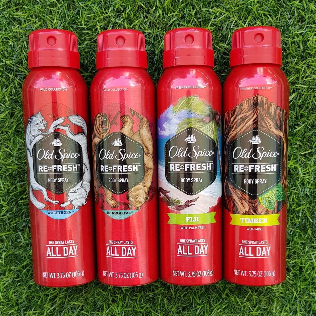 Xịt khử mùi Old Spice Wolfthorn Spray - Hàng Mỹ