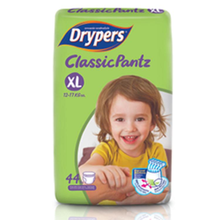 Tã bỉm quần DRYPERS CLASSIC PANTZ XL44 ( bé 12 - 17 Kg )