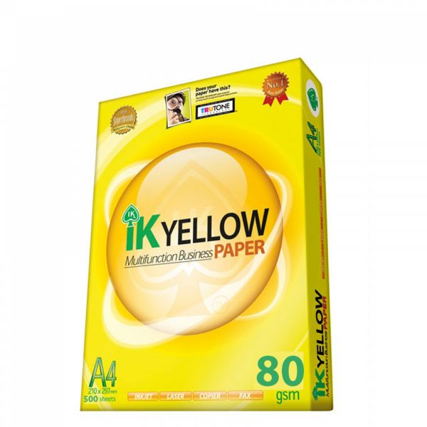 Giấy IK Yellow 80gsm –A4 (indo)