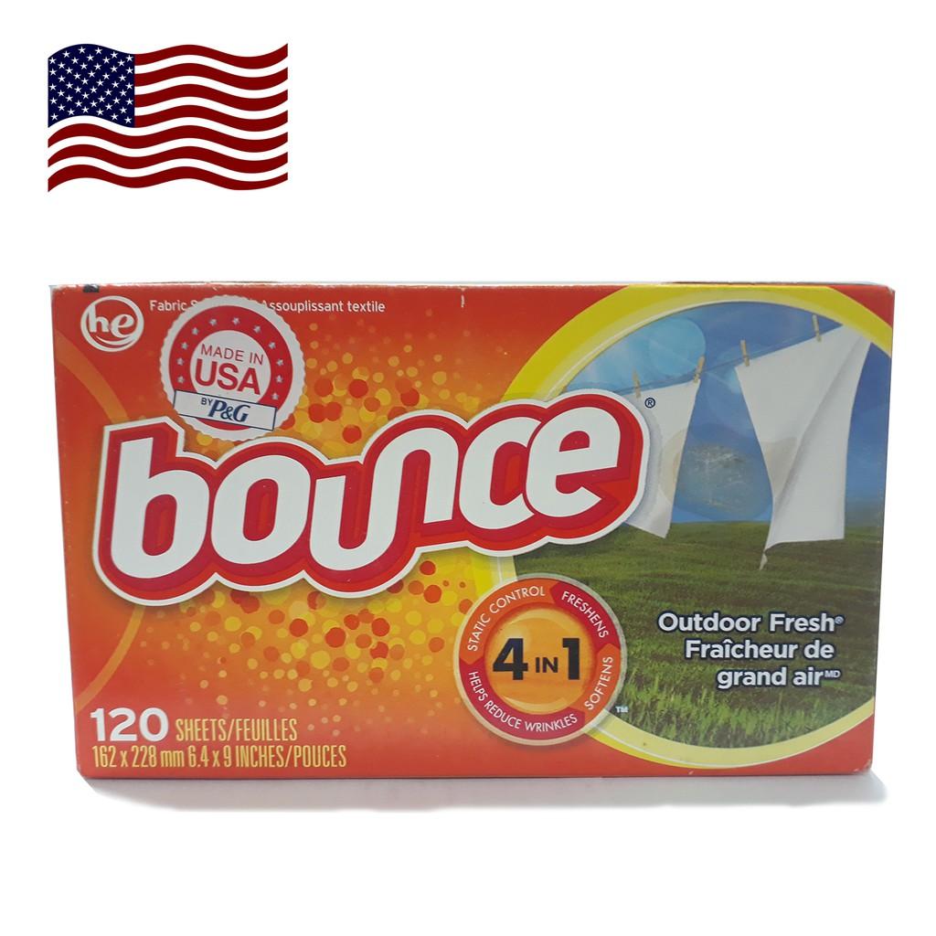 Giấy xả làm mềm vải Bounce Outdoor Fresh (160 tờ/ lốc)