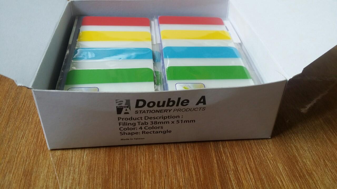 Film phân trang Double A 38mmx51mm, 4 màu