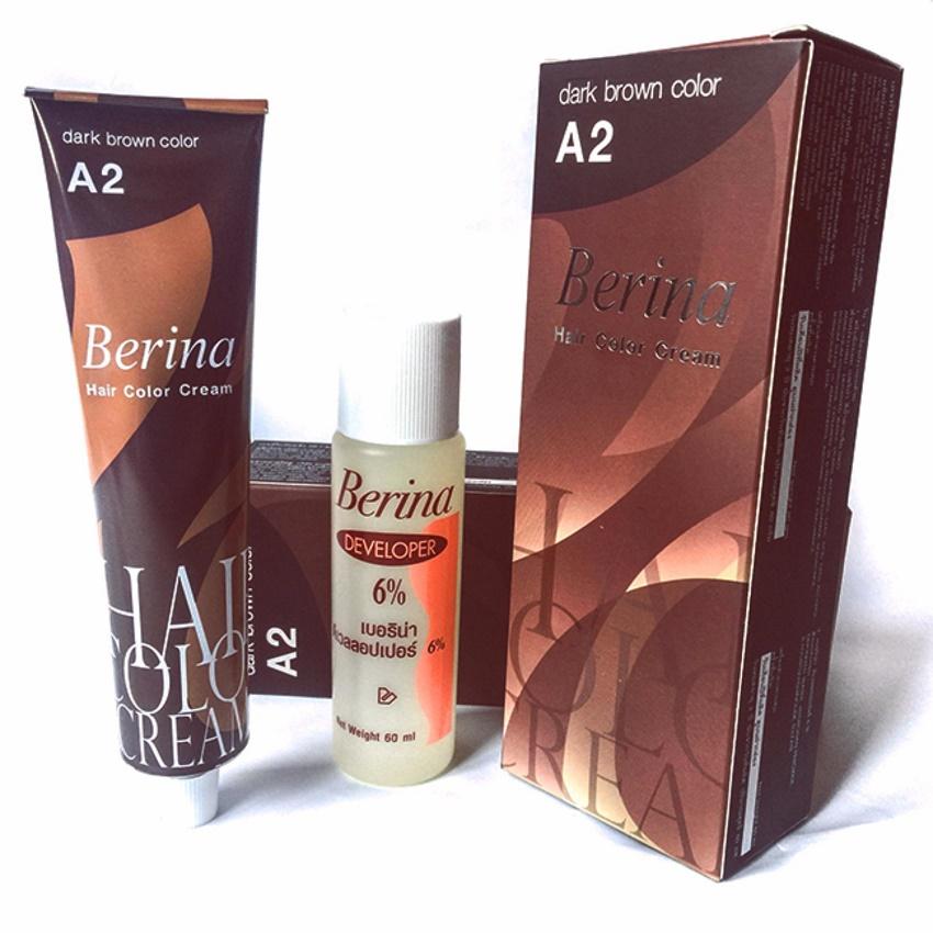 Thuốc nhuộm tóc BERINA A2 Thái Lan - màu nâu