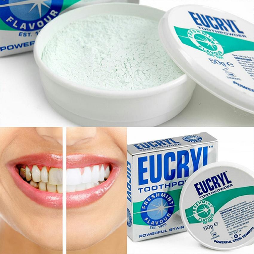 Bột tẩy trắng răng EUCRYL Anh Quốc - 50g