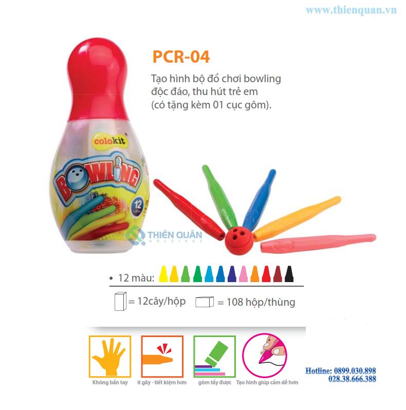 Bút nhựa màu PCR-04 12 màu