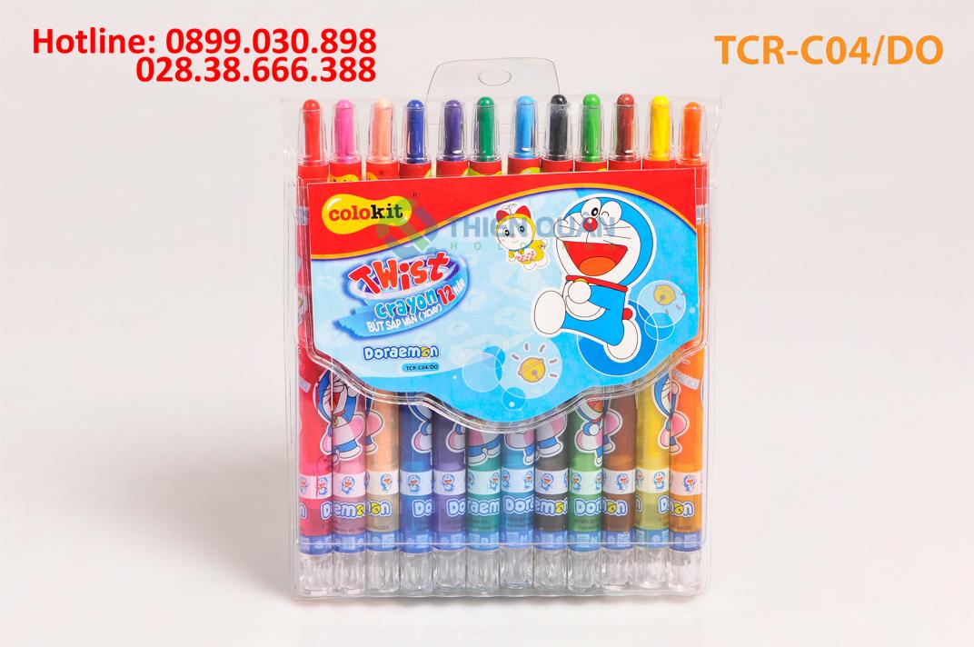 Bút sáp vặn TCR-C04/DO 12 màu
