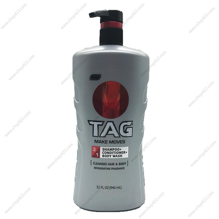 TAG Hair & Body Wash3-In-1, Make Moves 946ml