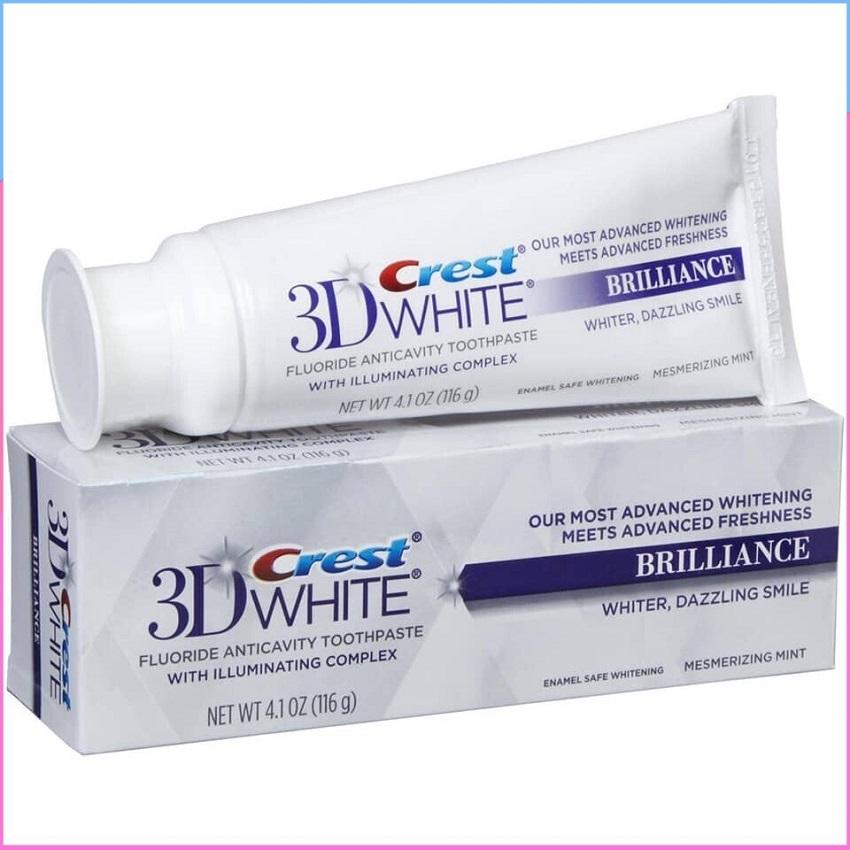 Kem đánh răng Crest 3D White Brilliance 116g