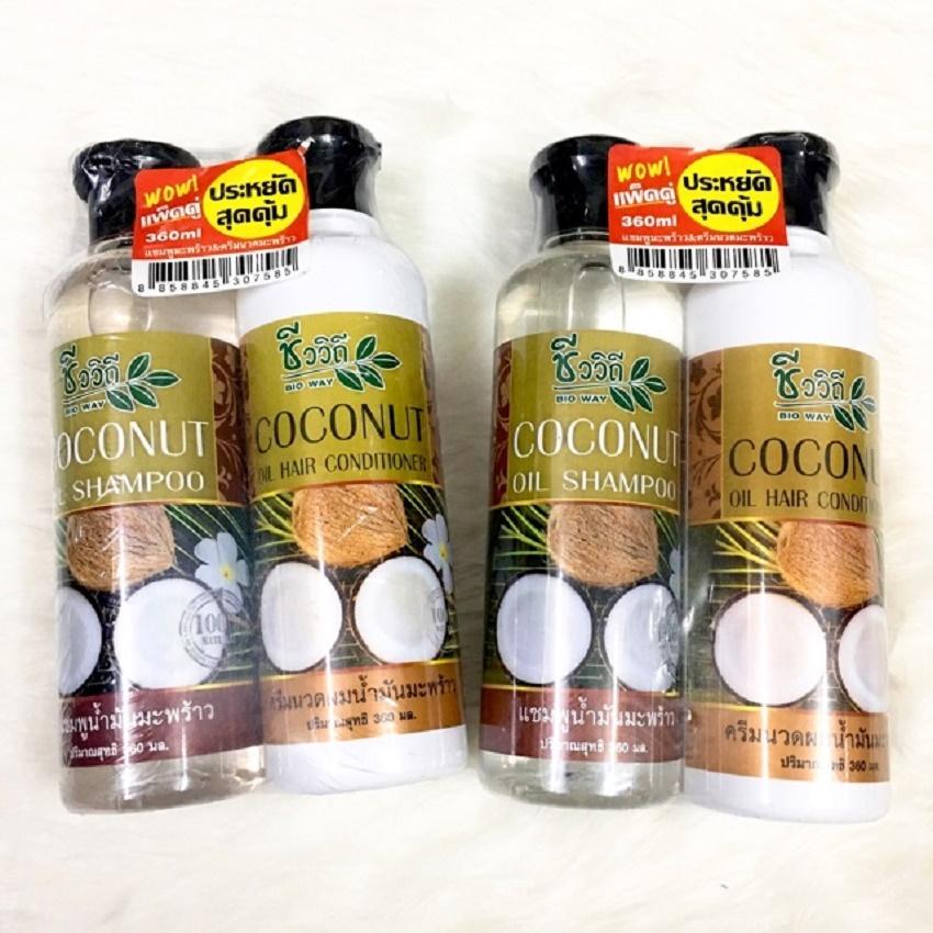 Bộ gội xả tinh dầu dừa BIO WAY Thái Lan - 360ml
