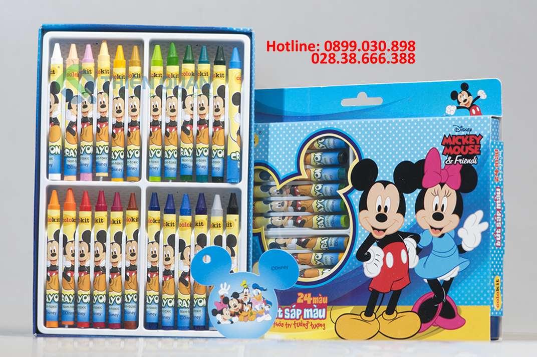 Sáp màu CR-C030/MI (24 Màu)_Disney