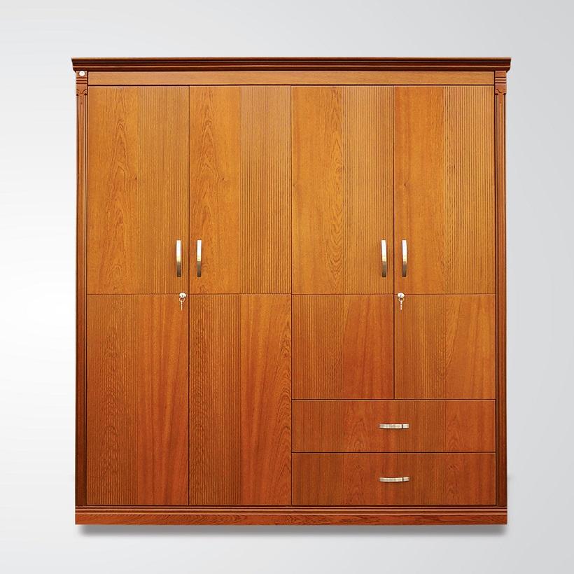 Tủ áo gỗ Veneer Hưng Phát - Mã HPF-T-009-XD