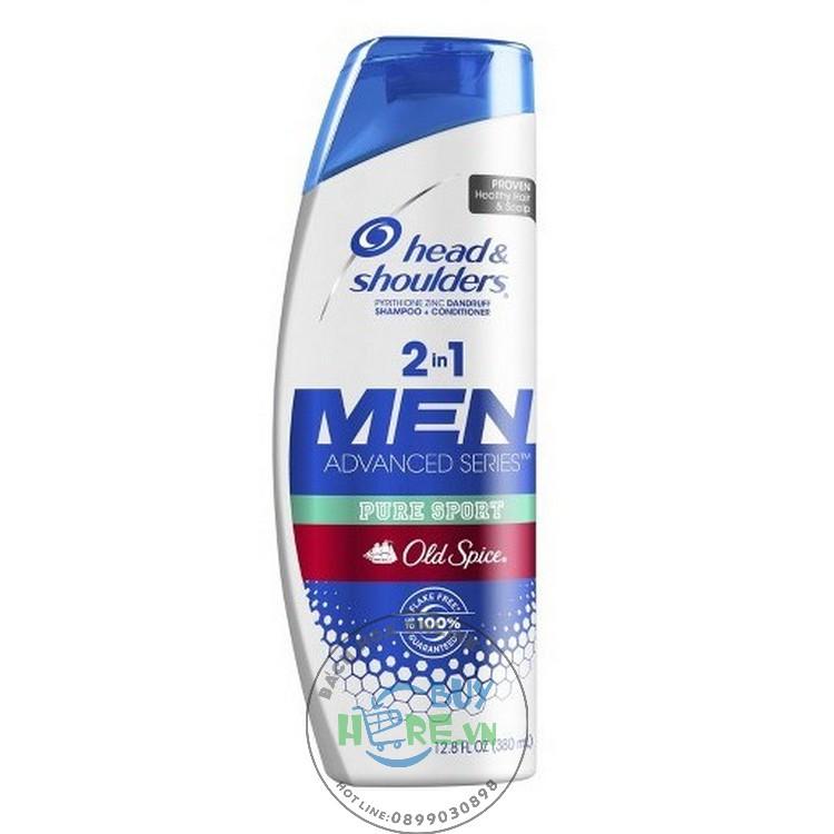 Dầu gội & xả 2IN1 Head & Shoulders Men  Old Spice Pure Sport