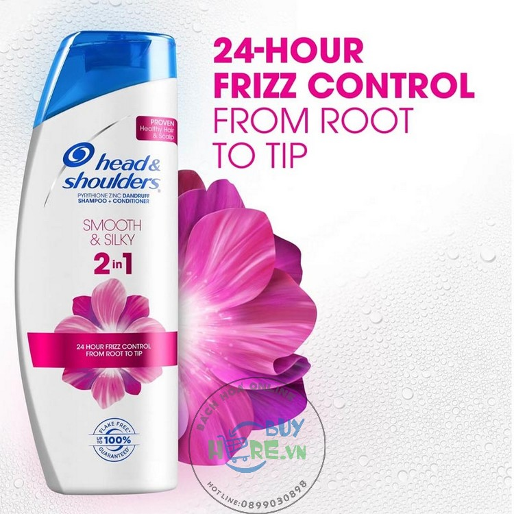Dầu gội & xả 2IN1 Head & Shoulders Smooth & Silky shampoo & Conditioner 2IN1 650ml