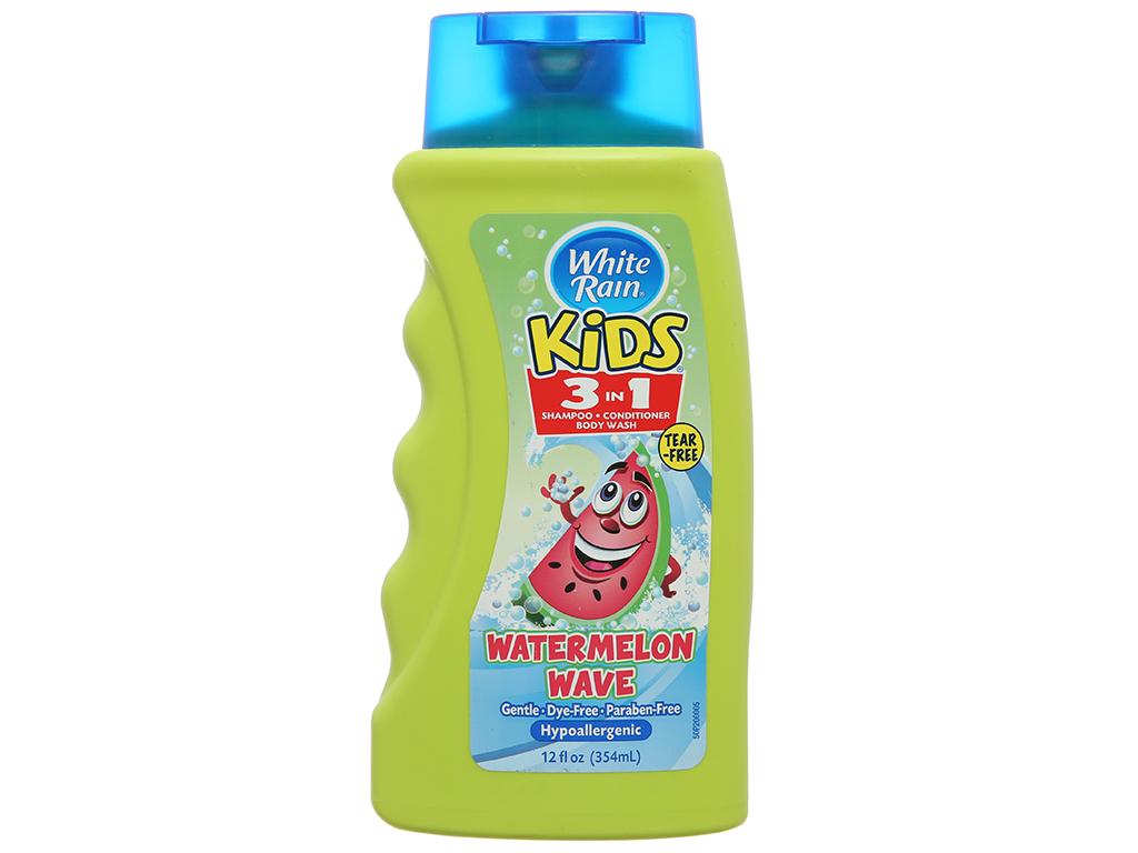 Dầu tắm gội White Rain Kids 3in1 Watermelon Wave 354ml