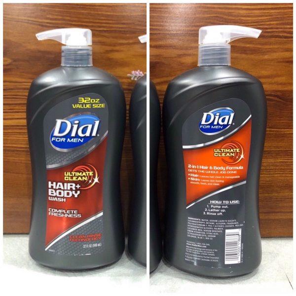 Dầu tắm gội Dial For Men Clean 946ml