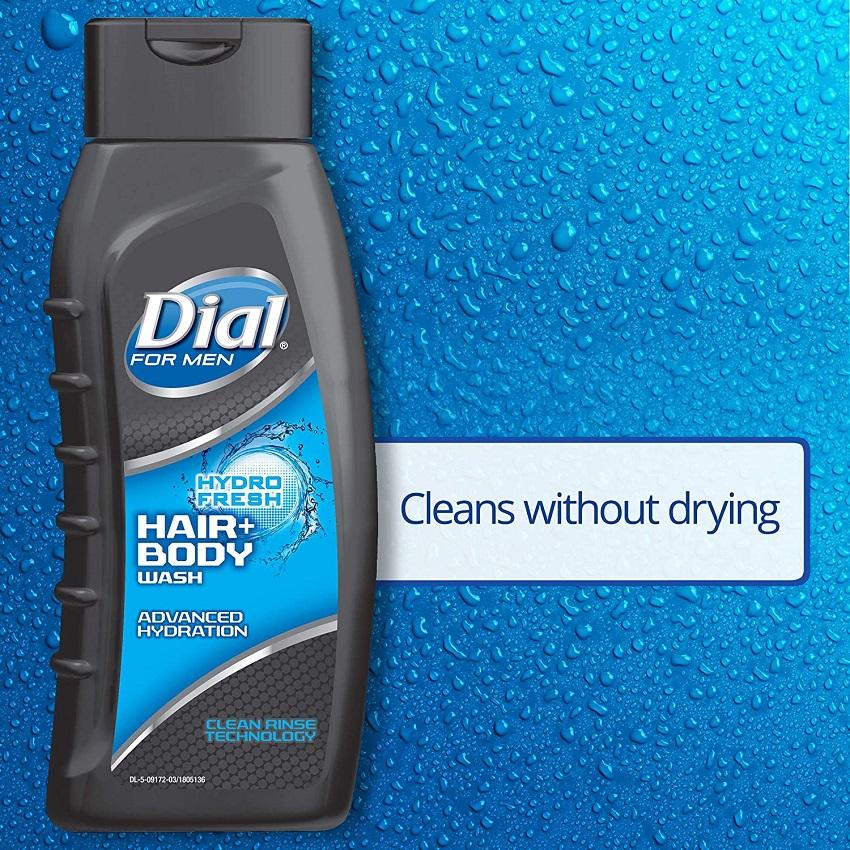 Sữa Tắm Gội Cho Nam DialHydro Fresh Hair & Body Wash473ml