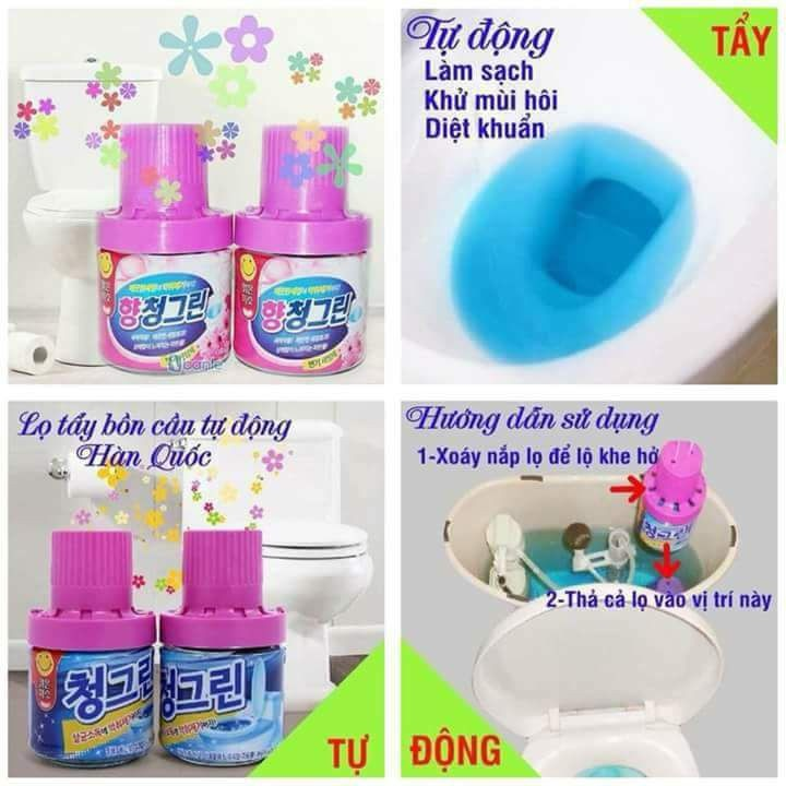 Chai Thả Bồn Cầu Khử Mùi Hàn Quốc [Ảnh thật]