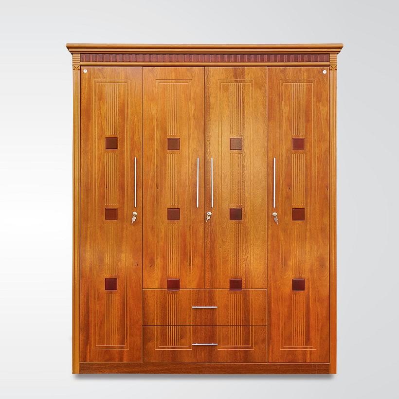 Tủ áo gỗ Veneer Hưng Phát - Mã HPF-T-003-XD
