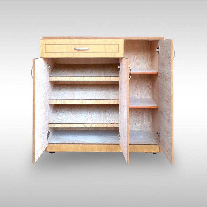 Tủ giày gỗ Veneer Hưng Phát HPF-TG-001-S