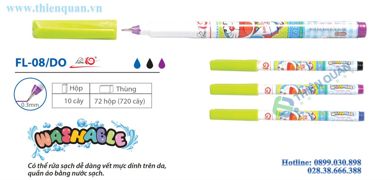 Bút lông kim rửa được FL08/DO