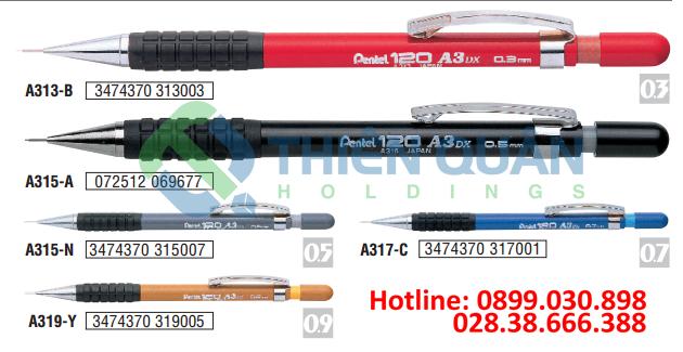 Bút chì kim kỹ thuật,thân nhựa, Grip 0.9 mm
