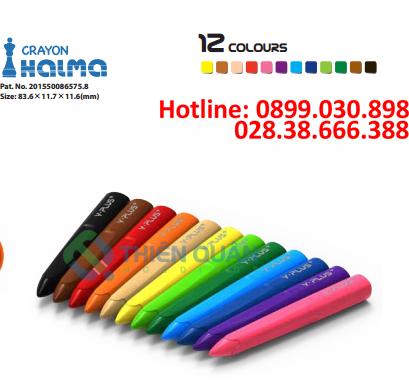 Bút sáp HALMA 12 màu - Y PLUS+