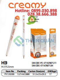 Bút chì gỗ thân trắng,HB-CREAMY - Y- PLUS+