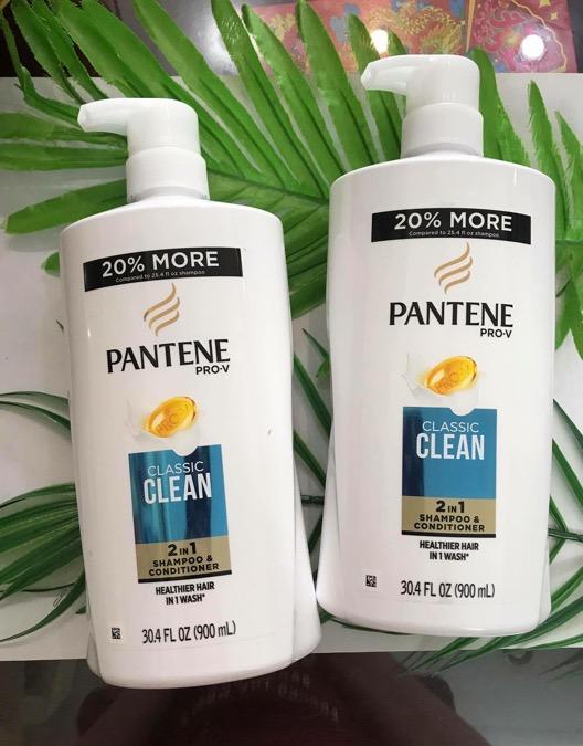 Dầu gội Pantene Clacssic Clean 2in1 900 ml