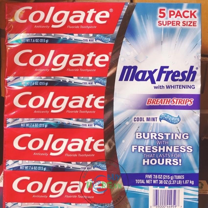 Kem đánh răng Colgate MaxFresh Mỹ 215g - Hàng USA