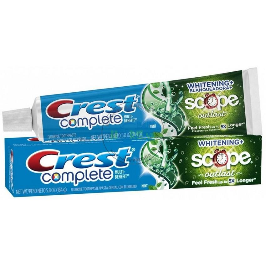Kem Đánh Răng Crest Complete Extra Whitening Scope 232gr - Hàng USA