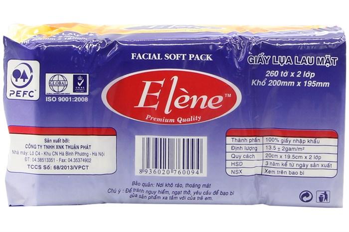 Khăn giấy lụa Elène 260 tờ (2lớp)