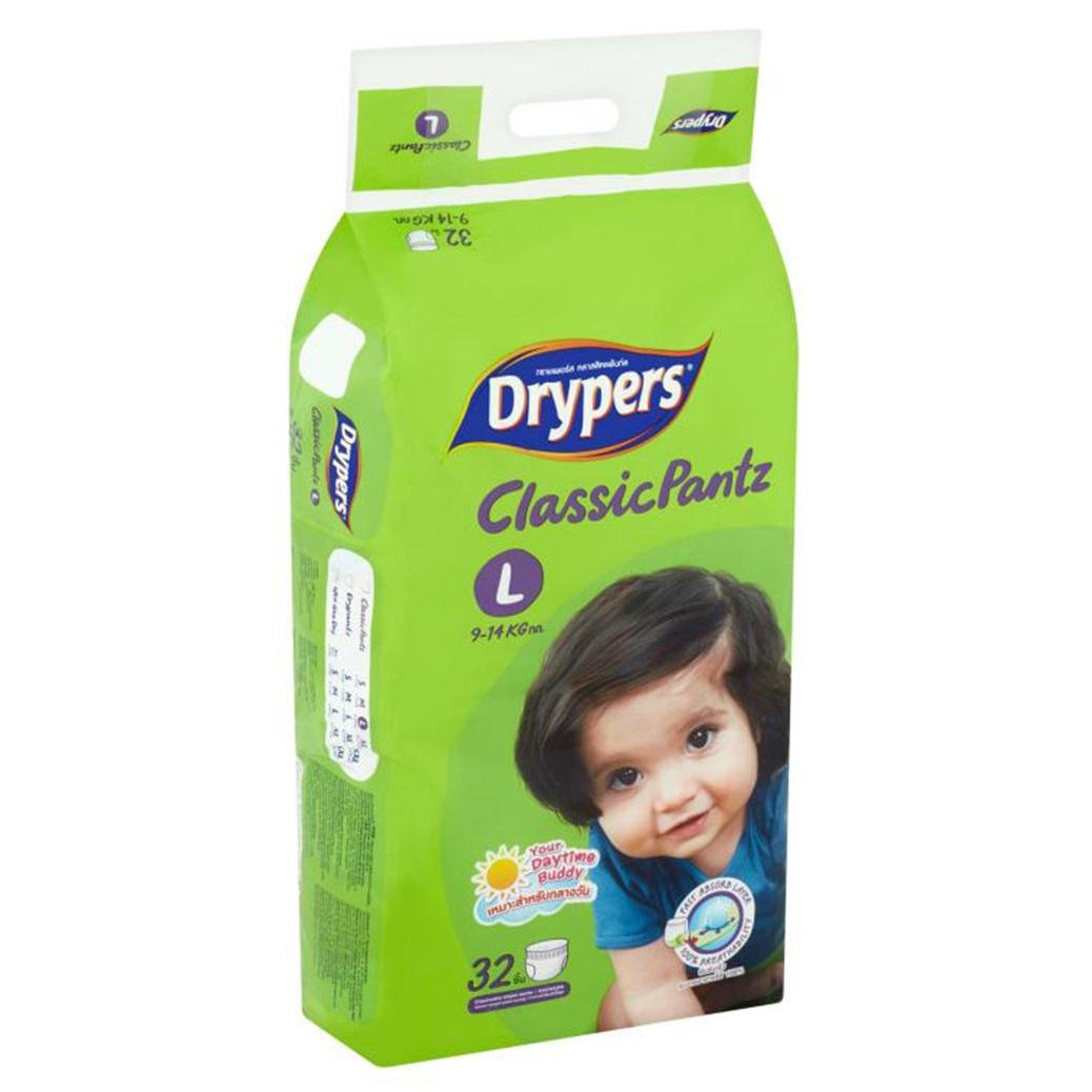 Tã bỉm quần DRYPERS CLASSIC PANTZ L32 ( bé 9 - 14 Kg )