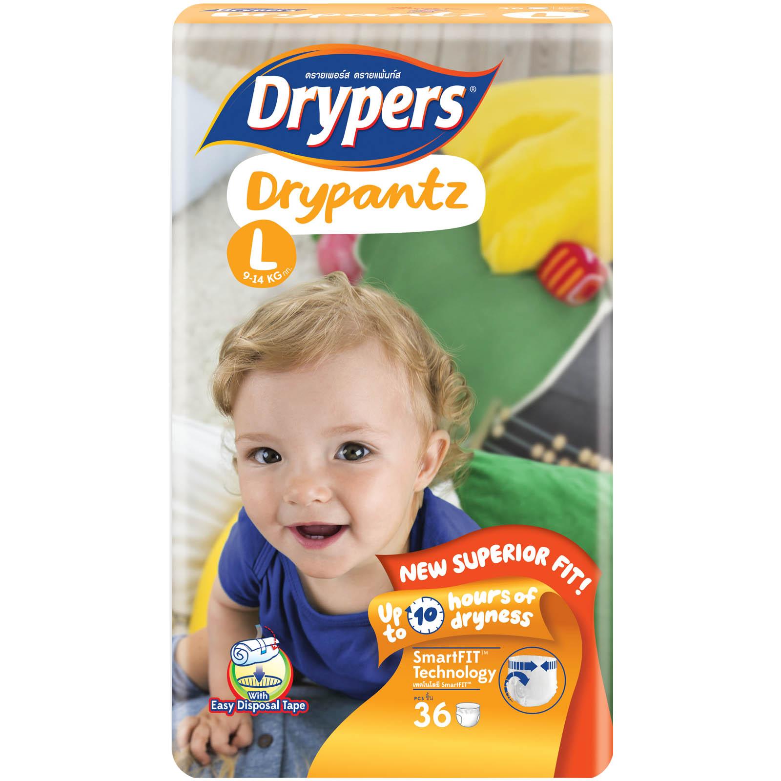 Tã bỉm quần DRYPERS DRYPANTZ L36 (bé 9 - 14 Kg)