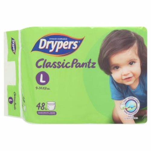 Tã bỉm quần DRYPERS CLASSIC PANTZ L48 ( bé 9 - 14 Kg )