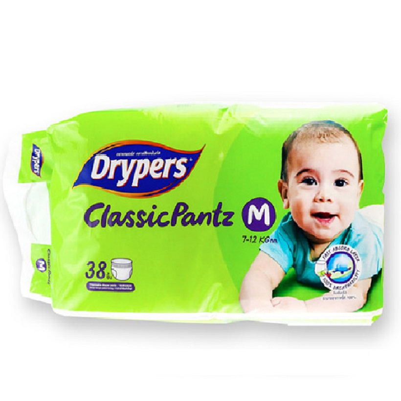 Tã bỉm quần DRYPERS CLASSIC  PANTZ M38 ( bé 7 - 12 Kg )