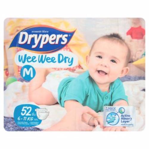 Tả - bỉm DRYPERS WEE WEE DRY M52 (bé 6 - 11 Kg)