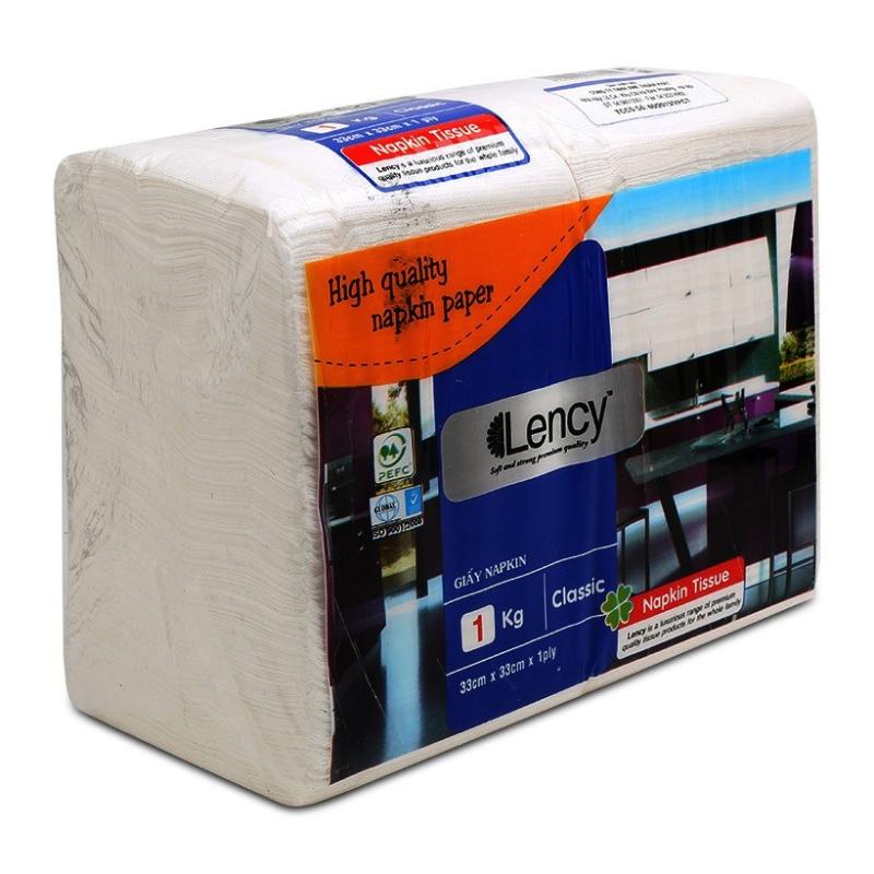 Khăn giấy Lency Napkin 33*33 cm (1kg)