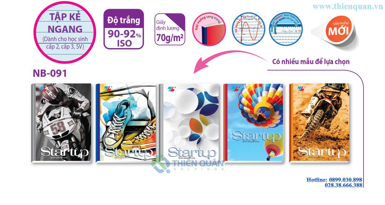 Tập NB-091 Start-up (80T-kẻ ngang sm)