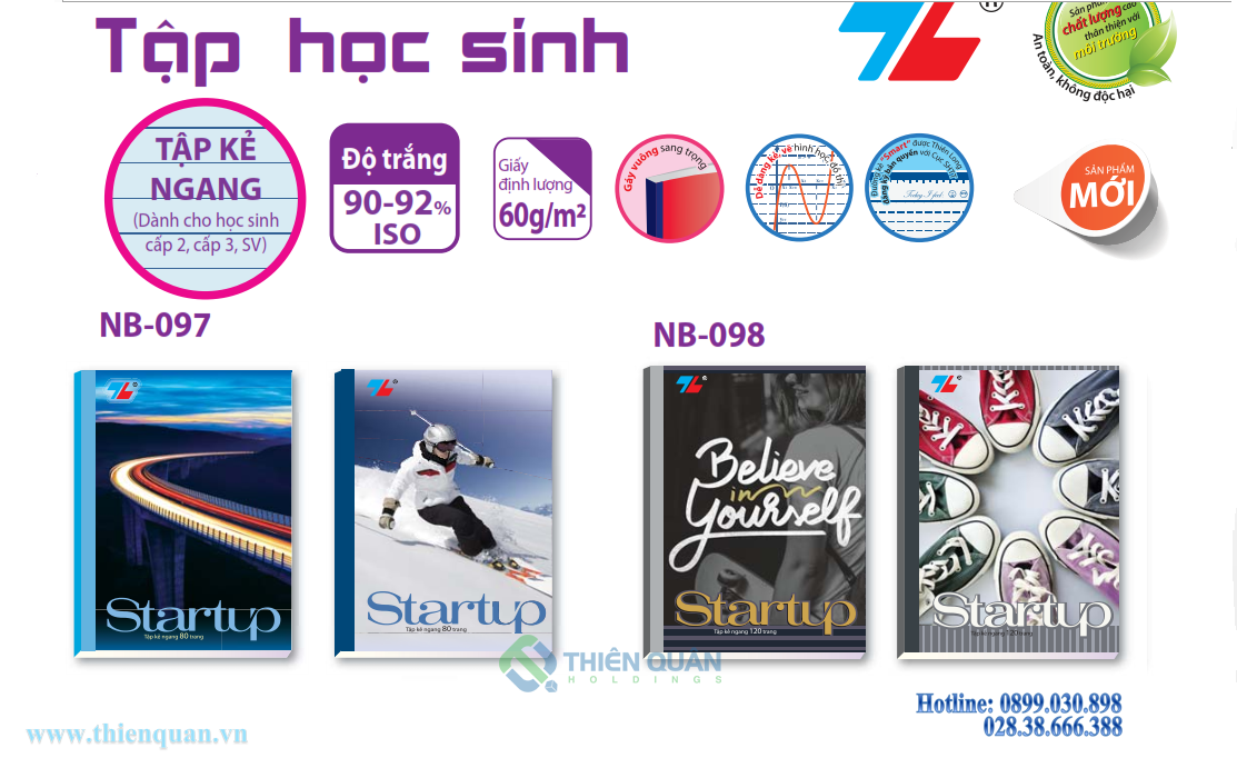 Tập NB-097 Start-up (80T-kẻ ngang sm)