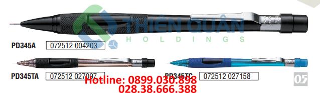 Bút chì kim bấm giữa, thân nhựa trong 0.5mm NEW
