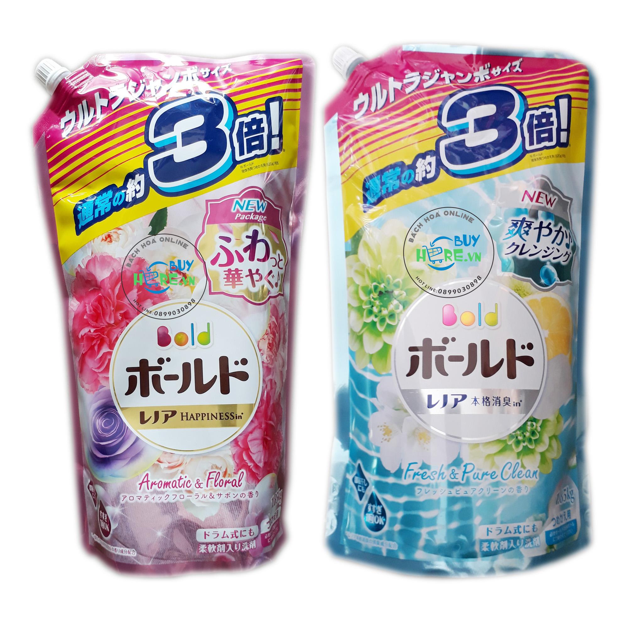 Nước giặt xả BOLD P&G Nhật Bản - dạng túi 1,85 Kg