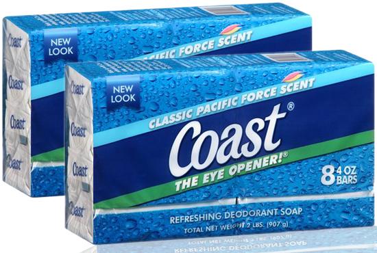 Xà phòng Coast Classic Scent Refreshing Deodorant Soap lốc 8 x 113g