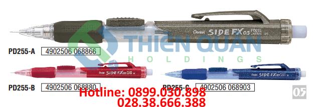Bút chì kim bấm giữa, grip, thân nhựa  - 0.5 mm