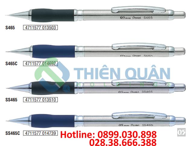 Bút chì kim kỹ thuật, grip, thân kim loại - 0.5mm