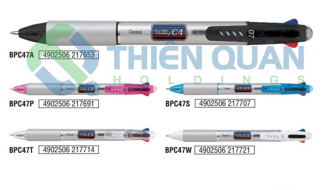 Bút bi bấm có grip Rolly - 4mầu (NEW)