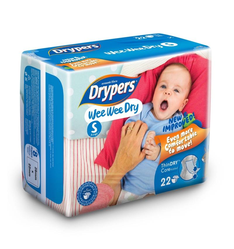 Tả - bỉm DRYPERS WEE WEE DRY S22 (bé 3 - 7 Kg)